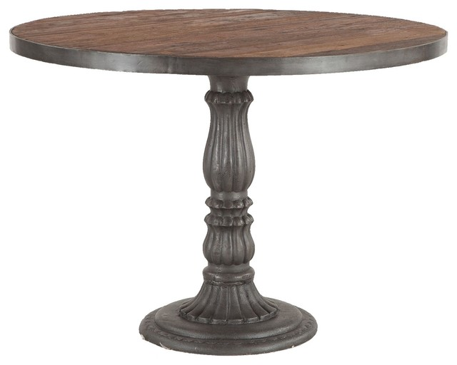 French Soda Fountain Wood Top Round Kitchen Table 42\