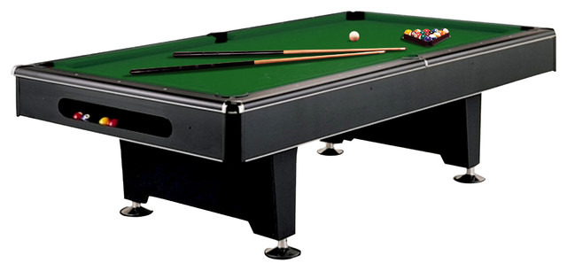 Great Imperial Eliminator 8u0027 Pool Table, Green Cloth, With Accessory Bundle  Contemporary Game