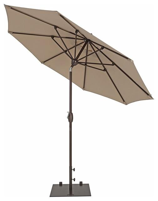 Sorara 11&x27; Outdoor Patio Umbrella With Push Button Tilt&crank&cover, 8 Ribs.