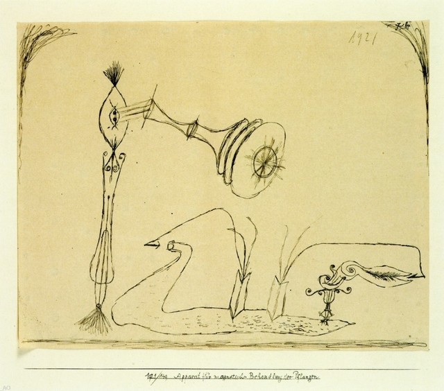 Paul Klee Apparatus for the Magnetic Treatment of Plants Gallery Wrapped Canvas