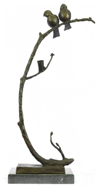 Limited Edition Signed Original Love Birds By C.payne Bronze Sculpture Statue.