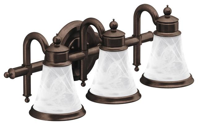 Waterhill 3-Globe Bath Light, Oil Rubbed Bronze