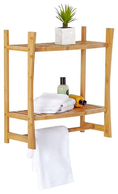 bamboo wall shelf asian bathroom cabinets and shelves