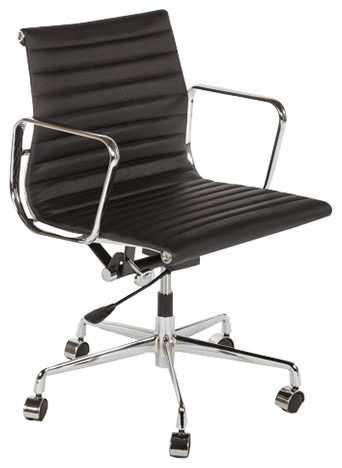 The Midcentury Genuine Leather Executive Office Chair ...