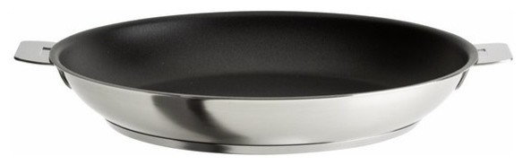 """Cristel Strate Removable Handle, 11"""" Nonstick Frying Pan."""