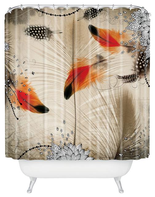 Iveta Abolina Feather Dance Shower Curtain