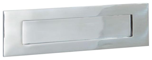 Letter Plate, 250mm, Polished Chrome