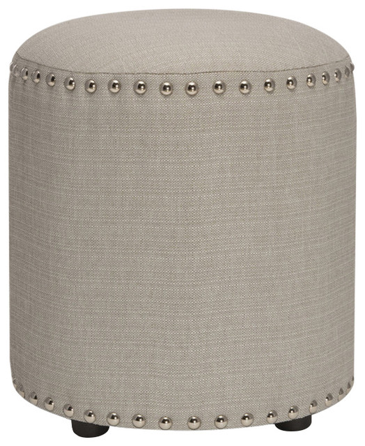 Laura Backless Vanity Stool, Gray.