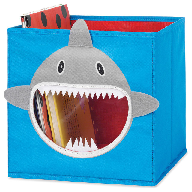 whitmor grey shark collapsible storage cube