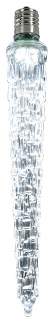 7 Led Falling Icicle Clear Lights Bulb E12, Cool White.