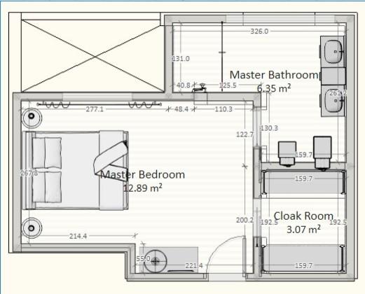 Planta 1 - Ampliación dormitorio y vestidor PROPUESTA