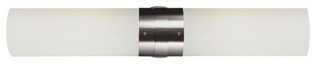 Fusion 2-Light Bathroom Vanity Lighting, Brushed Nickel.