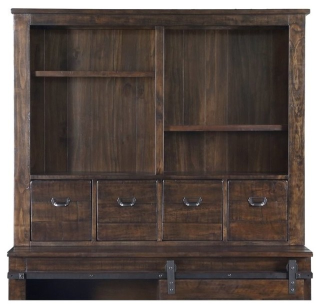 Shop Houzz | magnussen.com Magnussen Pine Hill Storage Cabinet Hutch, Rustic Pine - China ...