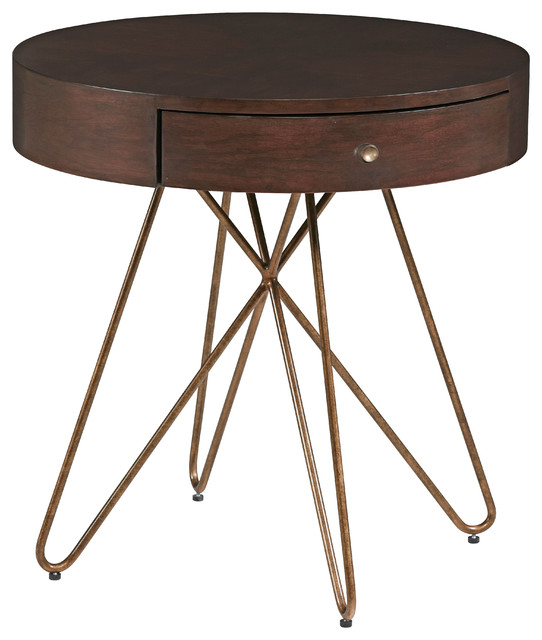 Epicenters Silver Lake Round End Table.