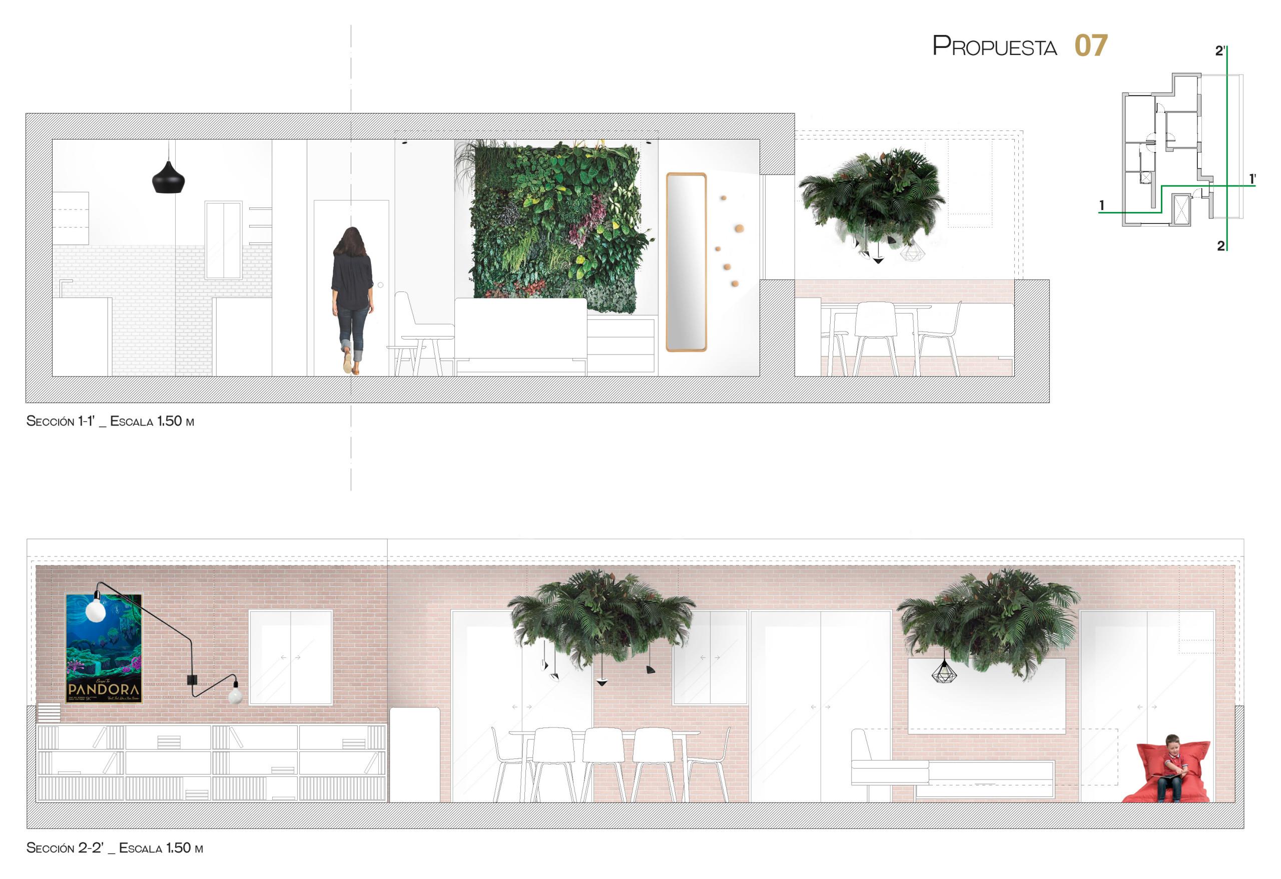 Propuesta de la vivienda - Secciones