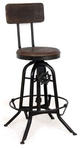 Stupendous Vintage Drafting Style Adjustable Swivel Counter Bar Stool By Coaster Frankydiablos Diy Chair Ideas Frankydiabloscom