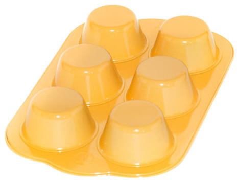 Muffin Meals Jumbo Muffin Pan, Bright Yellow.
