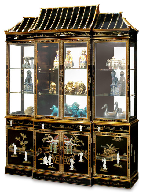 Shop Houzz China Furniture And Arts Black Lacquer Pagoda