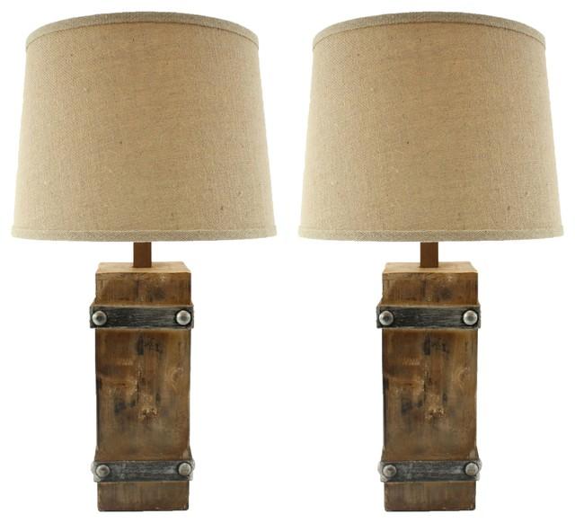 Brockton II Table Lamps, Set of 2 - Rustic - Lamp Sets - by Aspire ...