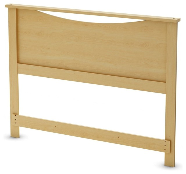 Full / Queen Size Headboard In Natural Maple Light Wood Finish