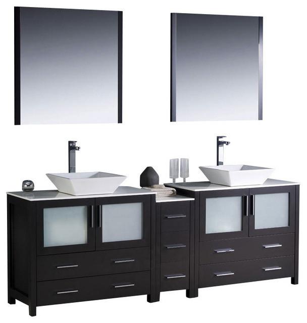 84 Inch Double Sink Bathroom Vanity - Contemporary - Bathroom Vanities ...