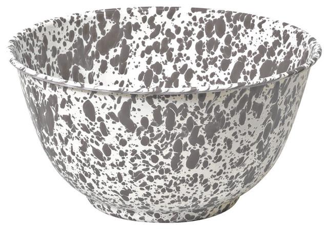 Crow Canyon Large Salad Serving Bowl Grey Marble