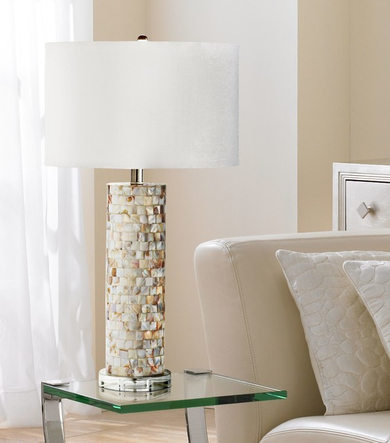 how to frame a bathroom mirror with mosaic tiles west palm of pearl mosaic tiled table lamp 26491