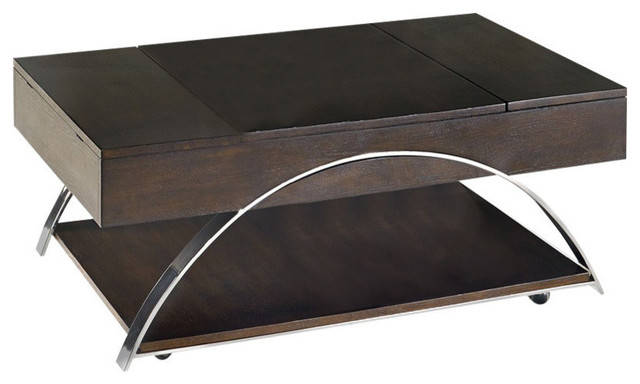 Showplace Castered Lift Top Cocktail Table Transitional Coffee Tables