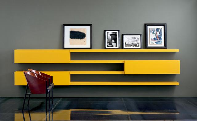 modern italian living room cabinets - modern - living room - san