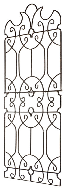 Wrought Iron Large Metal Ornamental Trellis , Yard And Wall Art.