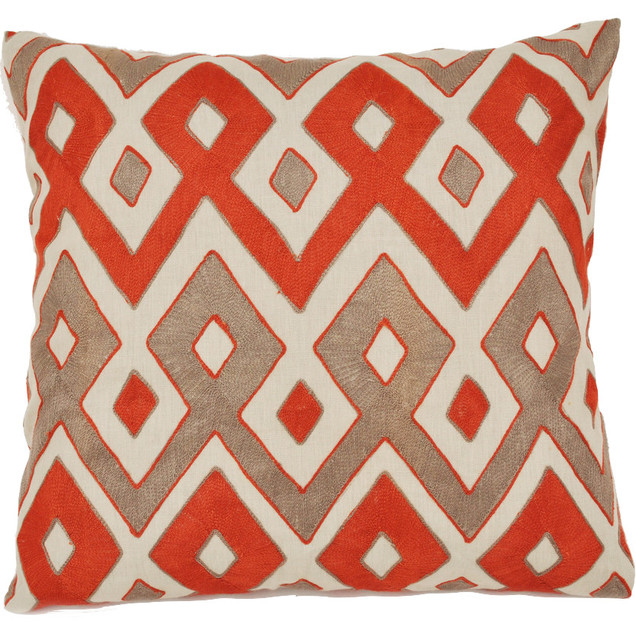Graphic Weave Rust Pillow Contemporary Decorative Pillows By New Rust Decorative Pillows