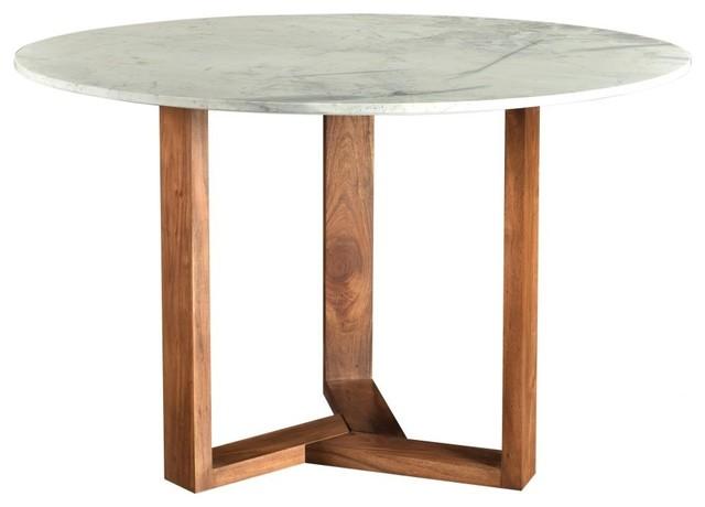 Satwaria Marble Top Solid Acacia Wood