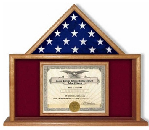 army flag and certificate display case - traditional - picture ...