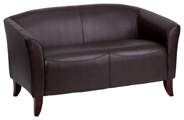 MFO Emperor Collection Brown Leather Love Seat