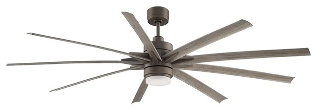"Fanimation Odyn 84"" Fan With Led Light, Matte Greige."