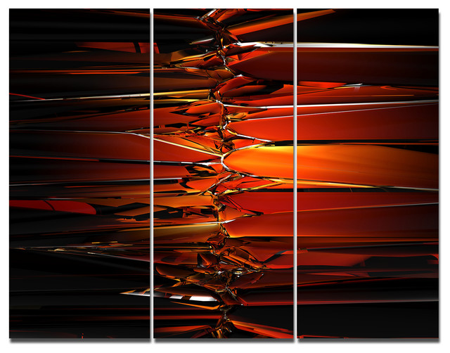 Colorful Abstract Glass Design, Abstract Triptych Canvas