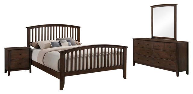 julitta 4 piece shaker bedroom set queen transitional bedroom