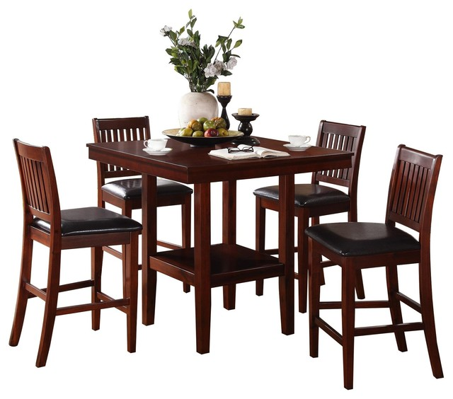 5 Piece Gainer Square Counter Height, Counter Height Kitchen Table And Chairs Set