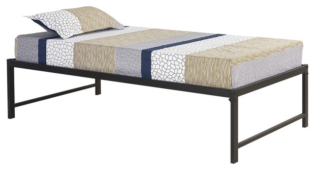 Archer Metal Daybed Frame With Metal Slats, Black, Twin.
