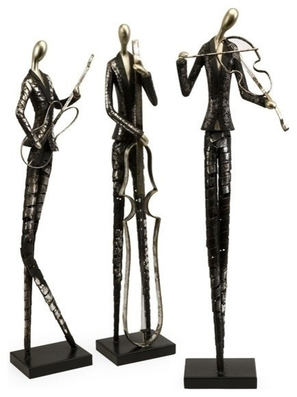 Imax Jazz Club Musician, Set of 3 Statuaries