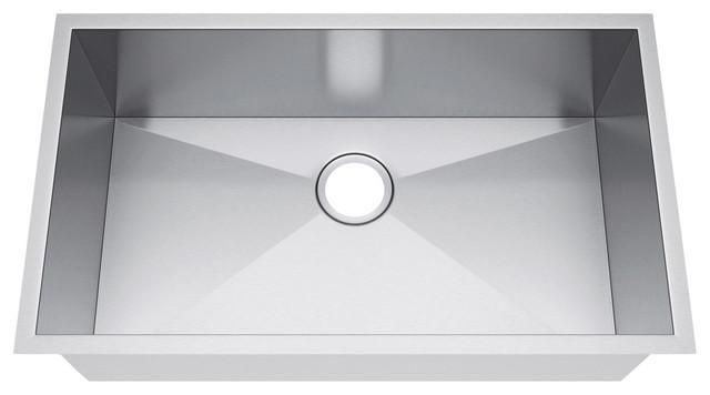 33 X19 Single Bowl Undermount Stainless Steel Kitchen Sink