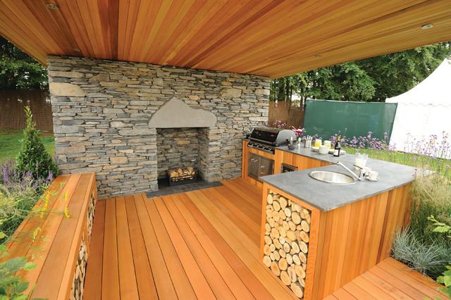 Beautiful Western Red Cedar Outdoor Kitchen Craftsman Vancouver