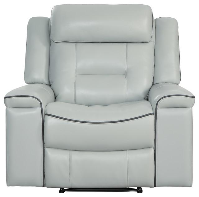Erding Reclining Chair, Lay Flat, Light Gray by Lexiconhome.com