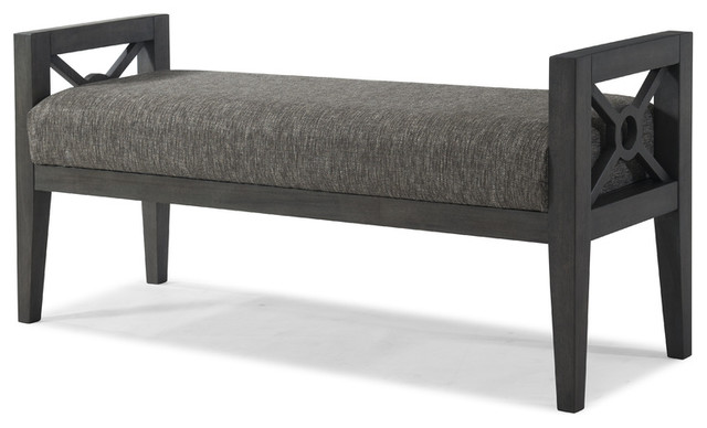 """Klaussner Music City """"thinking About You"""" Bed Bench, Slate 925-823."""