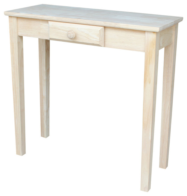 Mason Rectangular Accent Table With Drawer, Unfinished.
