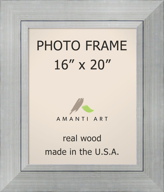 Picture Photo Frame 16x20 Romano Silver Outer Size 23x27