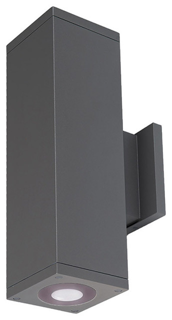 "Cube Architectural 6"" Ultra Narrow LED Up and Down Wall-Light 4000K, Graphite"