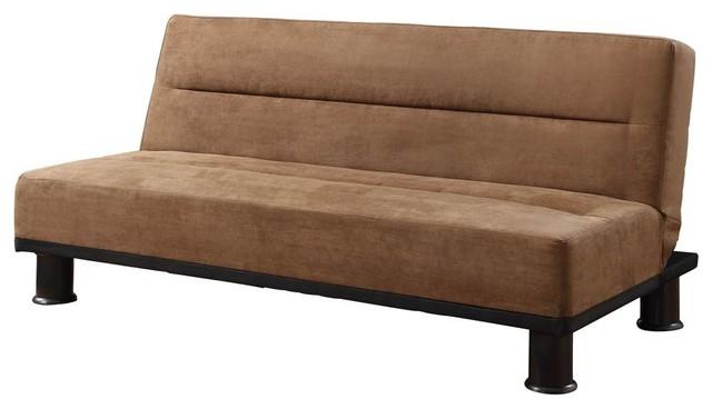 Modern Microfiber Sofa Brown