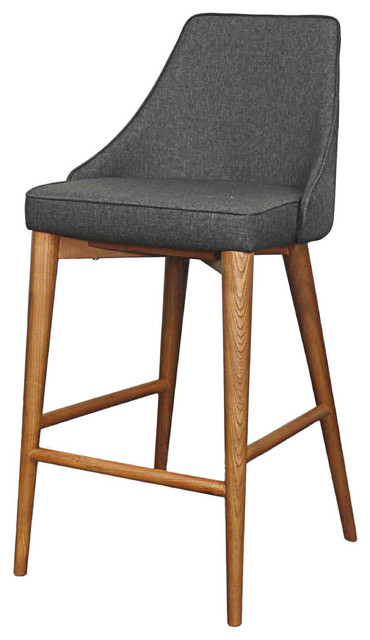 Groovy Erin Counter Stool Nightshade With Walnut Legs Machost Co Dining Chair Design Ideas Machostcouk