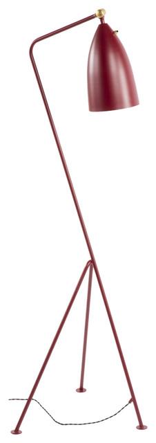 Magnus Floor Lamp, Red Matt